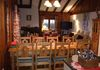 Verbier chalet living/dining area